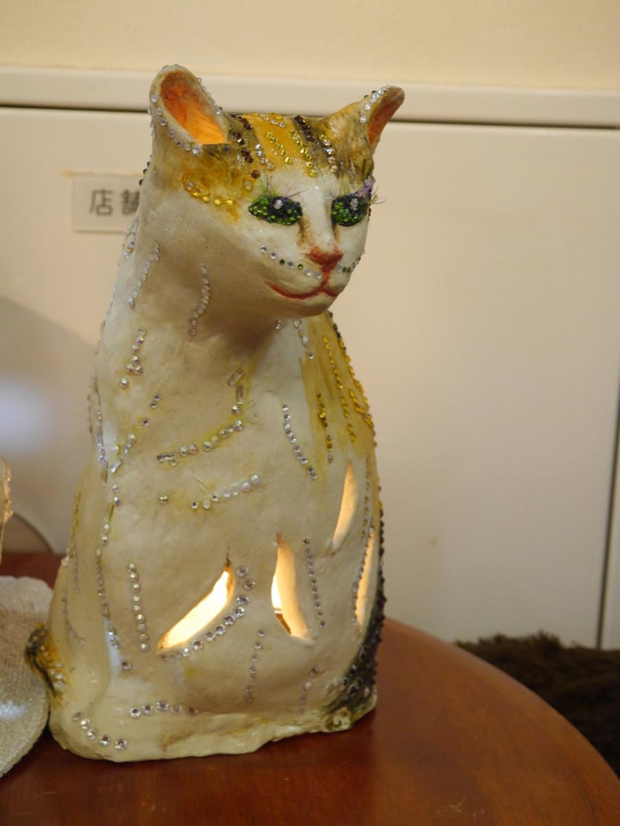 猫スタンドライト